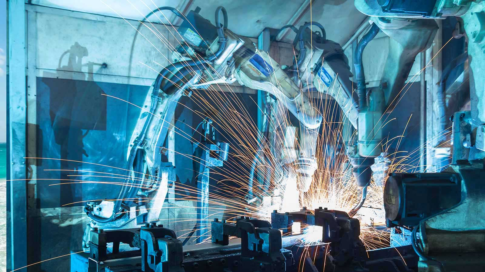 Industriële Robots Naderen Mexico